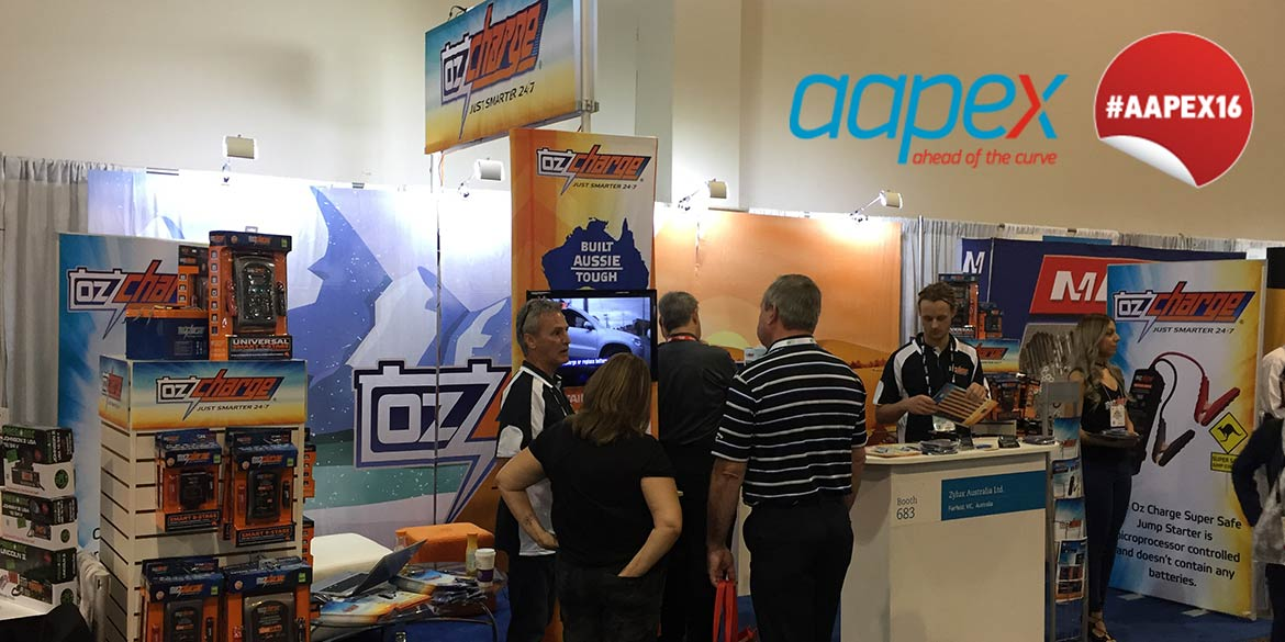 Zylux / Oz Charge at the AAPEX Sema Show 2016