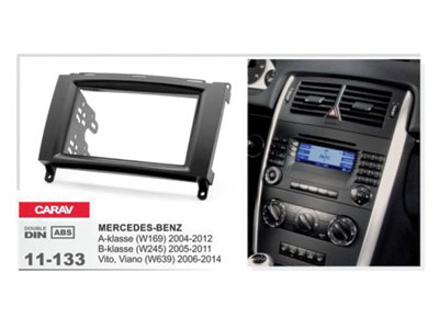 2-DIN Car Audio Installation Kit for MERCEDES-BENZ A-Class (W169) 2004-2012  B-Class (W245) Vito (W639) 2006-2014