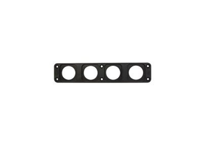 Conxus Flushmount plate 4-way BLACK + Quickconx