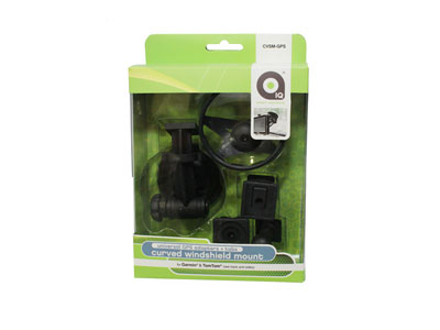 IQ- Curved Suction Mount GPS adapter to suit TOMTOM/Garmin & adhesive tabs