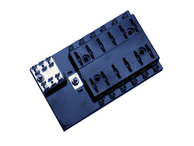 Oz Charge 12 Position ATS-Type Fuse block (inc 12x15A Fuses)