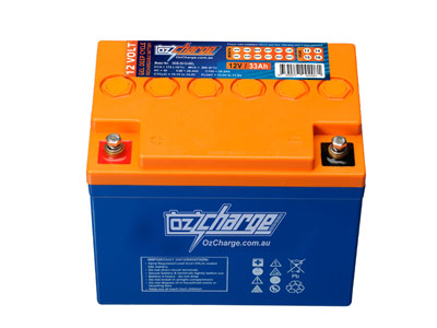 Oz Charge 12V 33Ah GEL Deep Cycle Battery