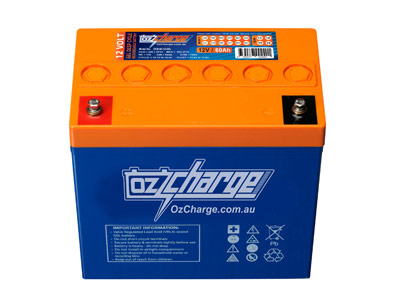Oz Charge 12V 60Ah GEL Deep Cycle Battery (MKsize)