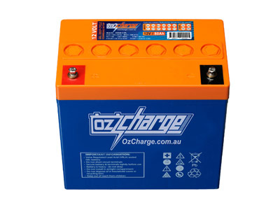 Oz Charge 12V 80Ah GEL Deep Cycle Battery