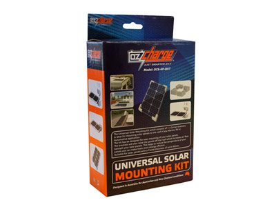 Oz Charge Solar panel Mounting Bracket Kit - 4pcs - Suit up to 40mm Frames