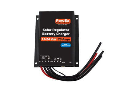 12/24V 20 Amp Solar Charger with LOAD control - IP68 WaterProof