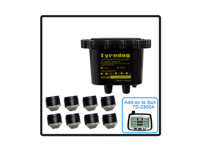 8 Wheel Trailer Kit (TYREDOG TPMS) - No Monitor included in this kit