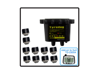 10 Wheel Trailer Kit (TYREDOG TPMS) - No Monitor included in this kit