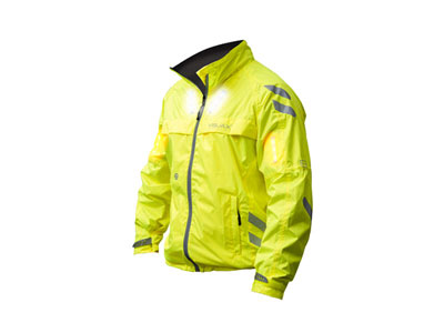 Visijax Commuter Jacket with Turn Signals (Yellow)