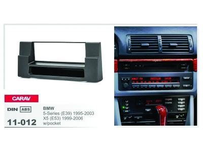 1-DIN Car Audio Installation Kit for BMW 5-Series (E39)1995-2003; X5 (E53) 1999-2006 w/pocket)