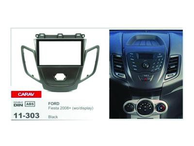 2-DIN Car Audio Installation Kit for FORD Fiesta 2008+wo/display (Black))