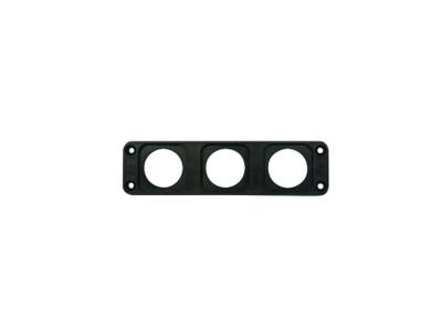 Conxus Flushmount plate 3-way BLACK + Quickconx