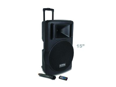 DJ tech Transit 15 inch Portable Speaker PA USB  MP3  Bluetooth  inc Wireless Microphone