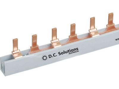 2 Phase Busbar 63A 1.0 Metre Long