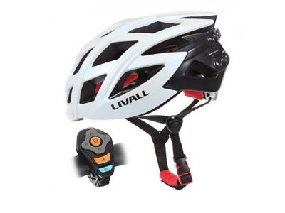 Livall White Road Bike helmet with Safety Lights, Bluetooth & Speakers Inc. BJ100 Bling Jet control