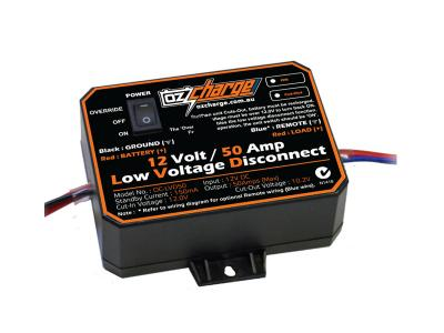 Oz Charge 12V 50 Amp Low Voltage Disconnect