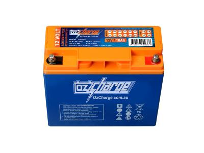 Oz Charge 12V 18Ah AGM Deep Cycle Battery
