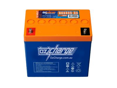 Oz Charge 12V 55Ah GEL Deep Cycle Battery