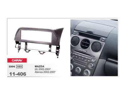 1-DIN Car Audio Installation Kit for MAZDA 6  Atenza 2002-2007 (Grey)