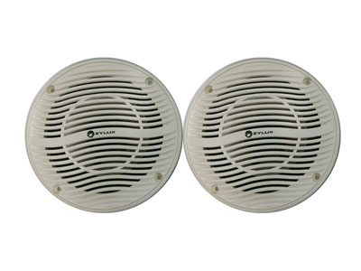 Zylux 6 Inch 2-way Pair Marine / Outdoor Speakers 100 Watts - White