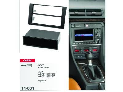2/1-DIN Car Audio Installation Kit for AUDI A4 (B6)2002-2006  A4 (B7) 2004-2009 / SEAT Exeo 2009+ w/