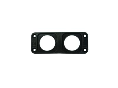 Conxus Flushmount plate 2-way BLACK + Quickconx
