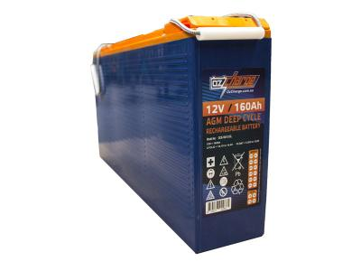 Oz Charge 12V 160Ah AGM Deep Cycle Battery Slimline